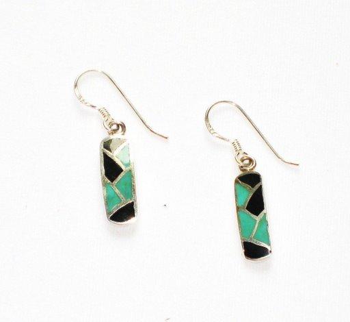 MN249       Enameled Earrings  in Sterling Silver
