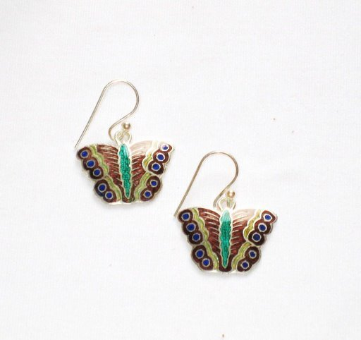 MN254       Enameled Earrings in Sterling Silver