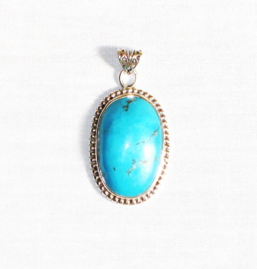 PN265  Turquoise Pendant in Sterling silver