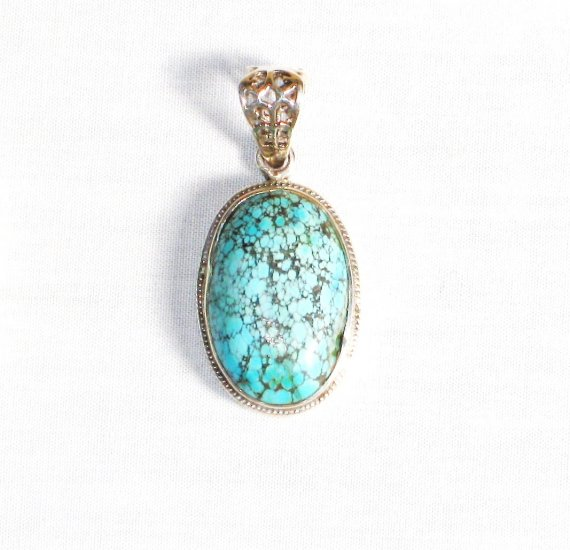 PN268  Turquoise Pendant in Sterling silver