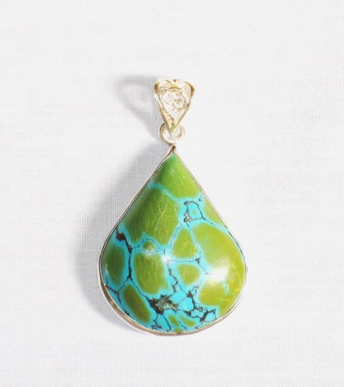 PN275  Turquoise Pendant in Sterling silver