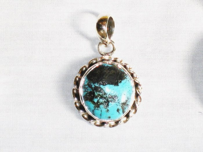 PN276  Turquoise Pendant in Sterling silver