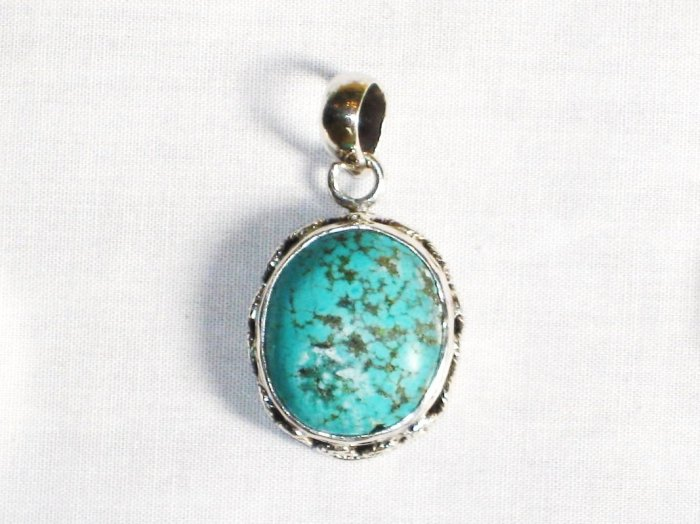 PN281  Turquoise Pendant in Sterling silver