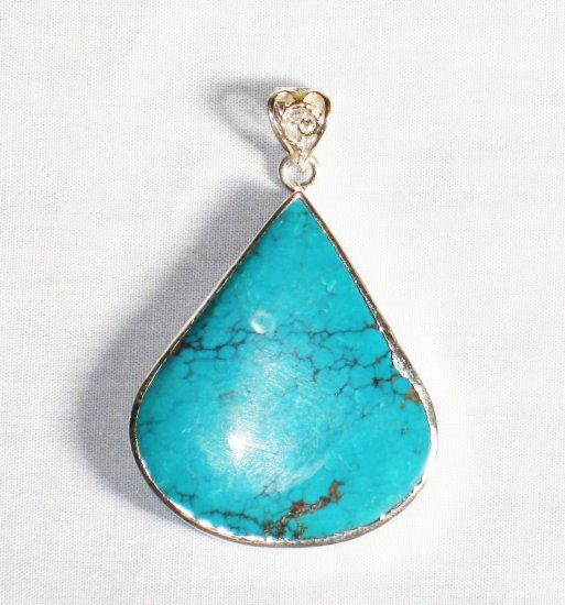 PN282  Turquoise Pendant in Sterling silver