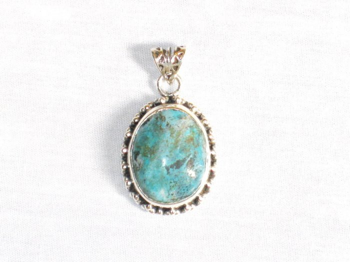 PN285  Turquoise Pendant in Sterling silver