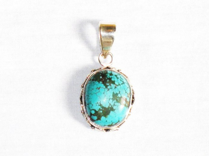 PN288  Turquoise Pendant in Sterling silver