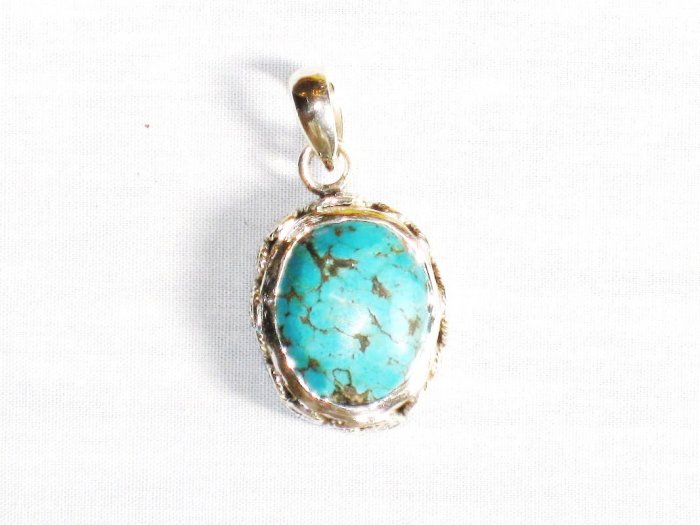 PN290  Turquoise Pendant in Sterling silver