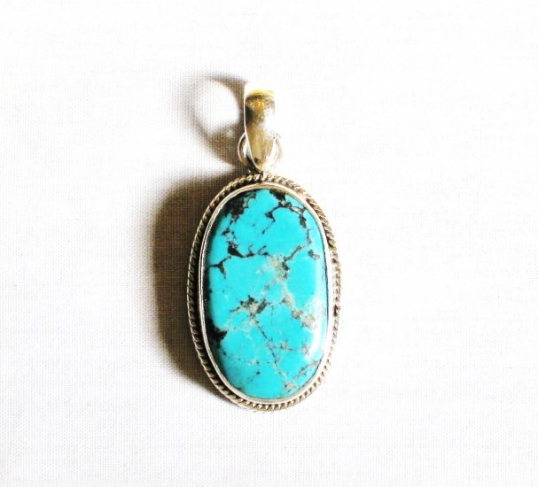 PN293  Turquoise Pendant in Sterling silver