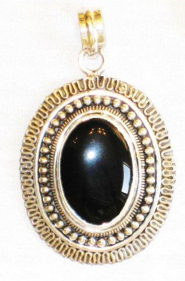 PN348 Onyx Pendant in Sterling Silver
