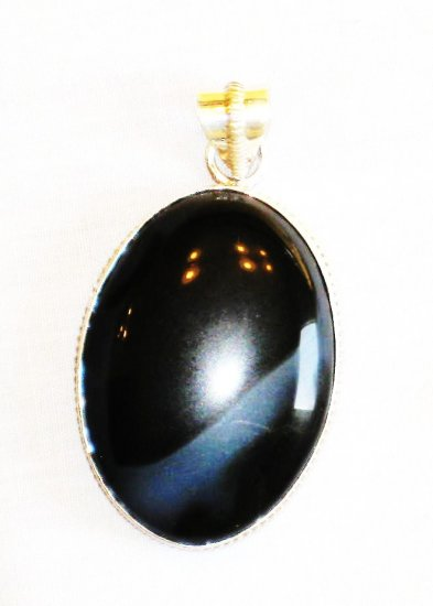 PN354 Onyx Pendant in Sterling Silver