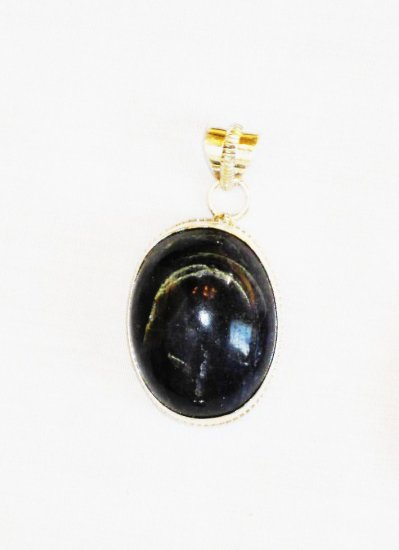 PN370 Onyx Pendant in Sterling Silver