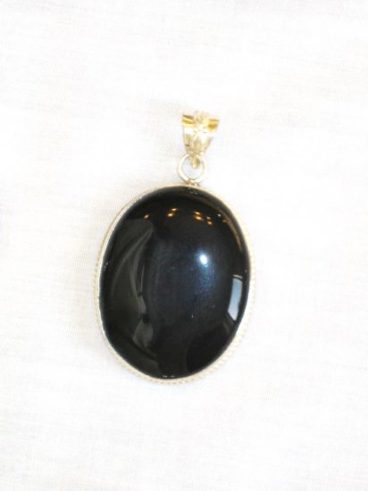 PN371 Onyx Pendant in Sterling Silver