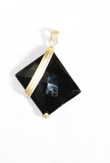 PN316 Onyx Pendant in Sterling Silver
