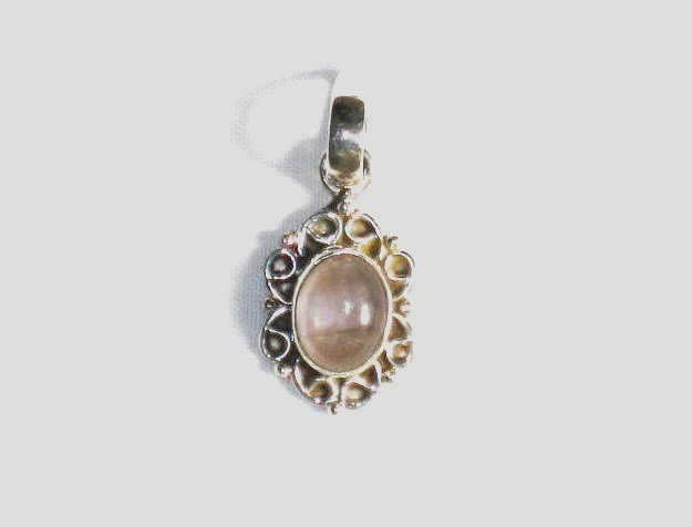 PN170 Rose Quartz Pendant in Sterling Silver