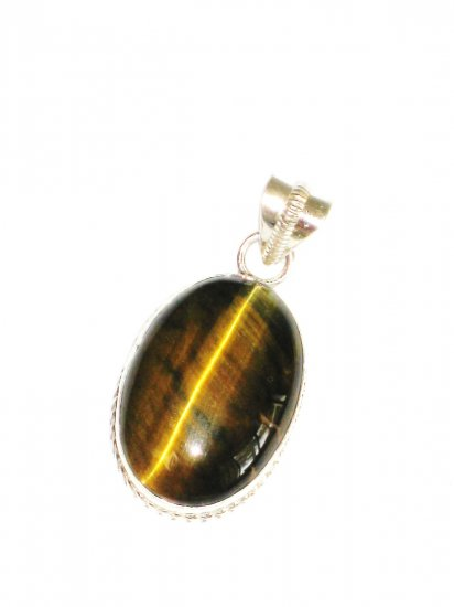 ST628 Tiger's Eye Pendant in Sterling Silver