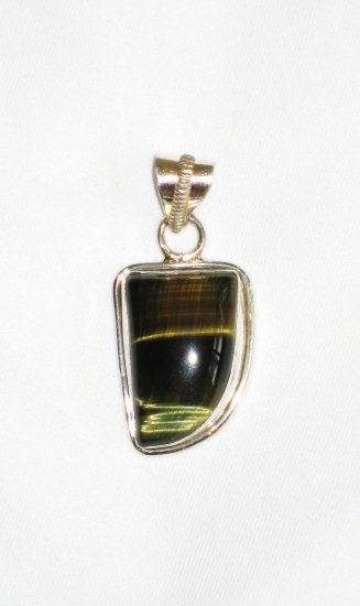 ST632 Tiger's Eye Pendant in Sterling Silver - SOLD