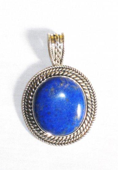 PN309 Lapis Lazuli Pendant in Sterling Silver