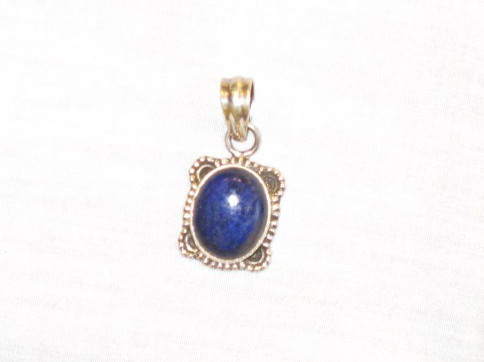 PN381 Lapis Lazuli Pendant in Sterling Silver