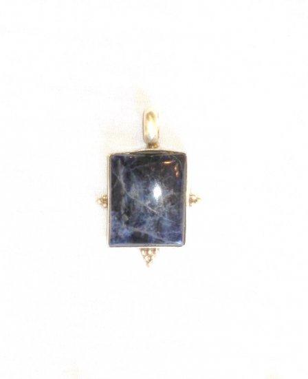 PN452 Lapis Lazuli Pendant in Sterling Silver