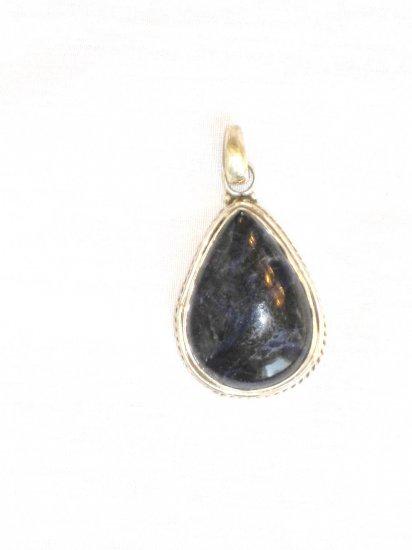 PN477 Lapis Lazuli Pendant in Sterling Silver