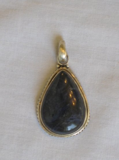 PN479 Lapis Lazuli Pendant in Sterling Silver