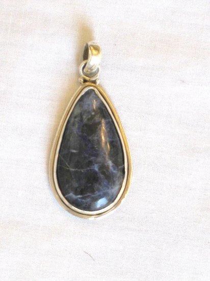 PN480 Lapis Lazuli Pendant in Sterling Silver