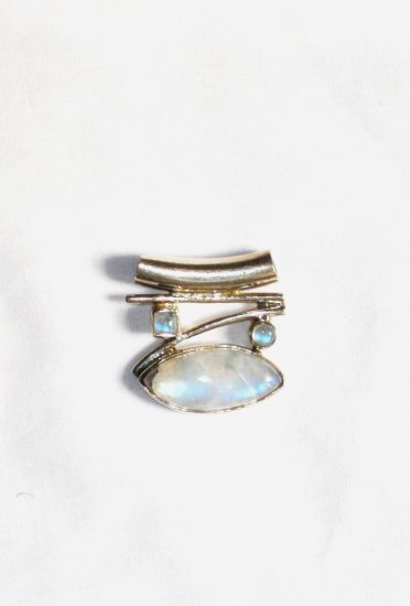 PN186 Moonstone Pendant in Sterling Silver - SOLD