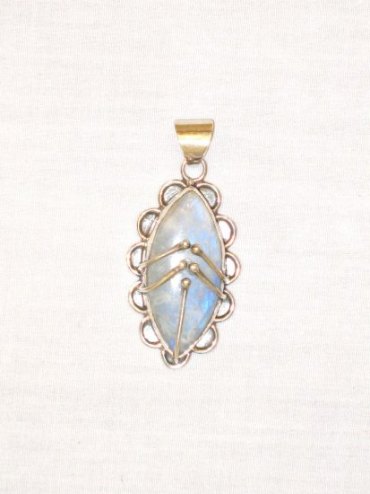 PN394 Moonstone Pendant in Sterling Silver