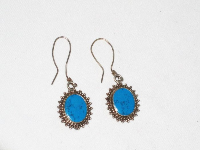 ER020 Turquoise Earrings Set in Sterling Silver