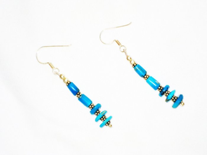 ST610 Turquoise Earrings Set in Sterling Silver