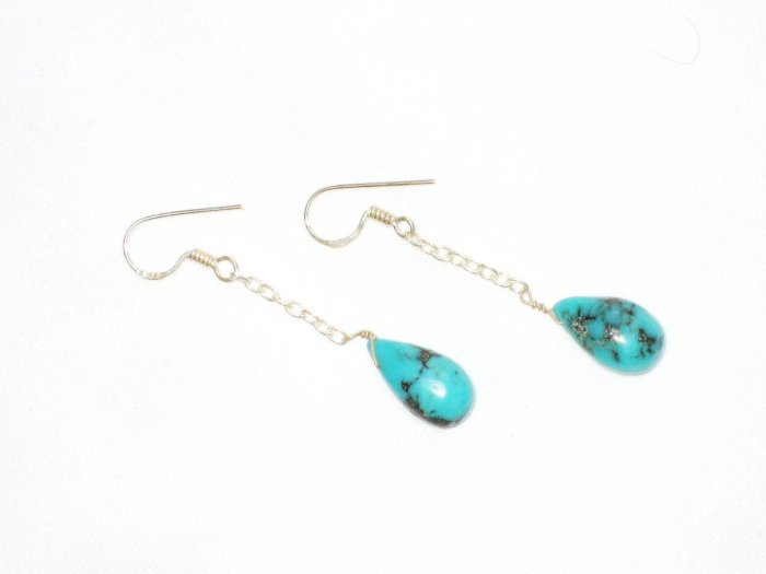 ST622 Turquoise Earrings Set in Sterling Silver