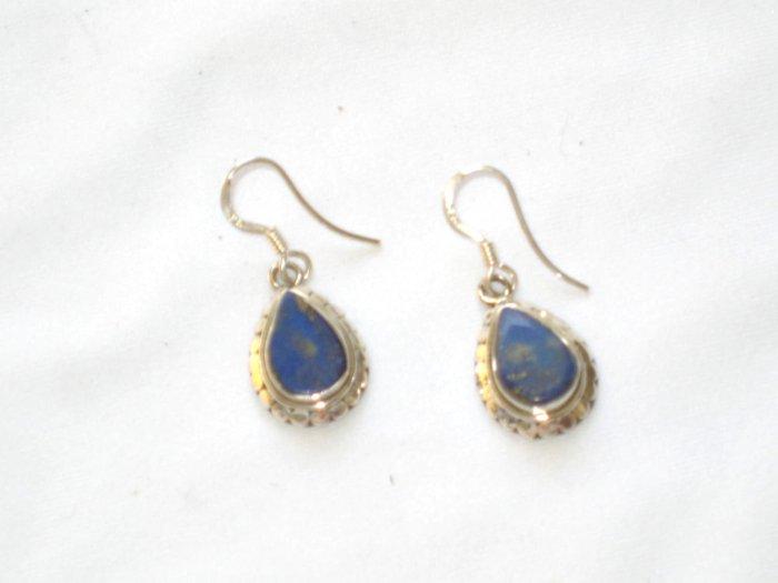 ER001 Lapis Lazuli Earrings Set in Sterling Silver