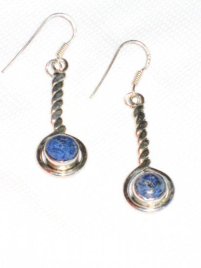 ST391 Lapis Lazuli Earrings Set in Sterling Silver