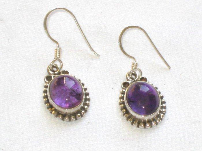 ER017 Amethyst Earrings set in sterling silver