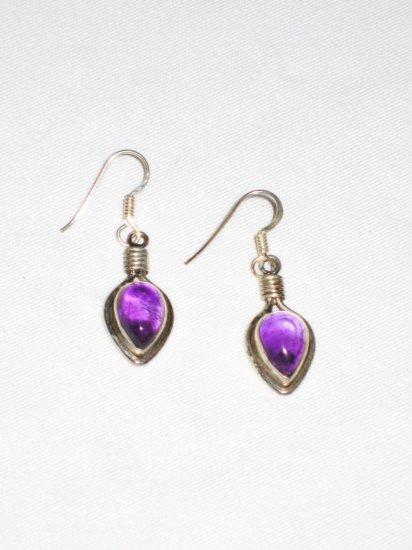 ER038 Amethyst Earrings set in sterling silver