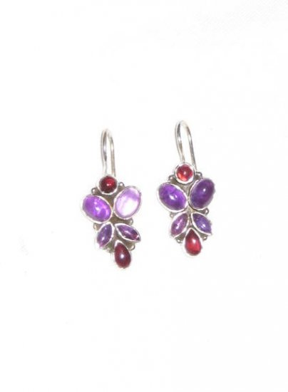 ER039 Amethyst Earrings set in sterling silver