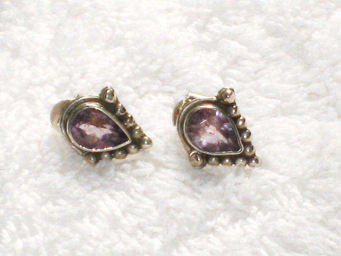 ER062 Amethyst Earrings set in sterling silver