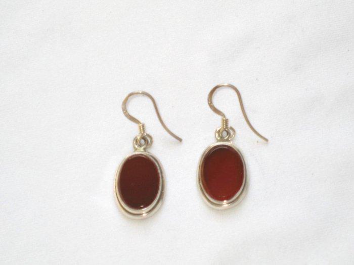 ER002 Carnelian Earrings set in sterling silver