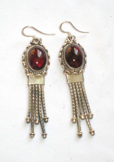 ER026 Carnelian Earrings set in sterling silver