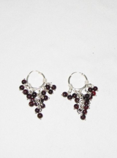 ER025 Garnet Earrings set in sterling silver