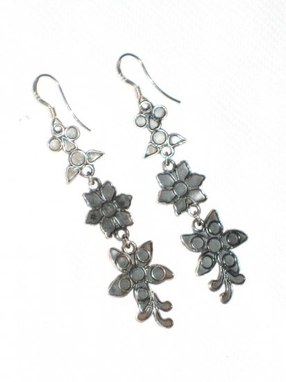 ST401 Oxidized Sterling Silver Earrings