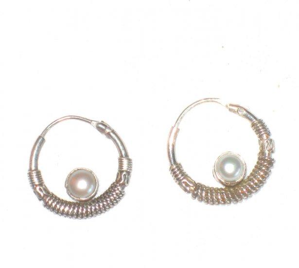 ST410 Oxidized Sterling Silver Earrings