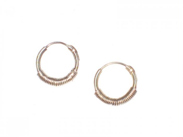 ST412 Oxidized Sterling Silver Earrings