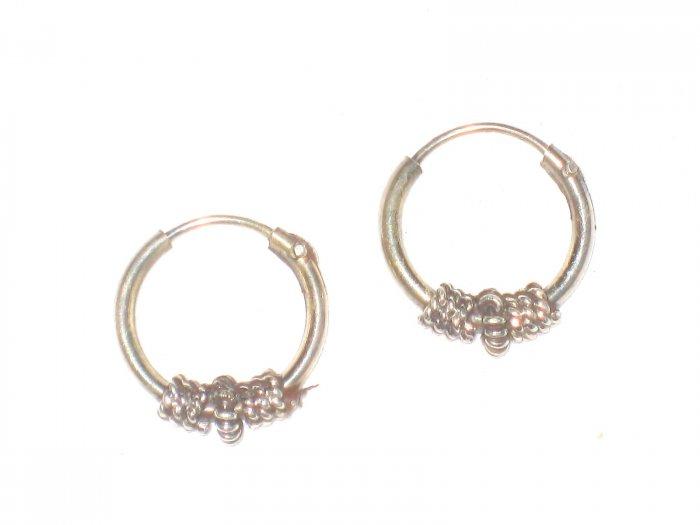 ST413 Oxidized Sterling Silver Earrings