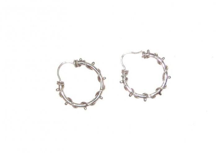 ST414 Oxidized Sterling Silver Earrings