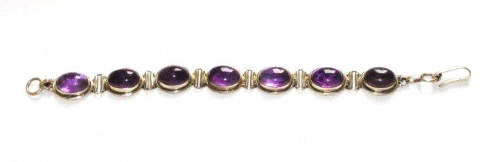 ST129       Amethyst Bracelet in Sterling Silver
