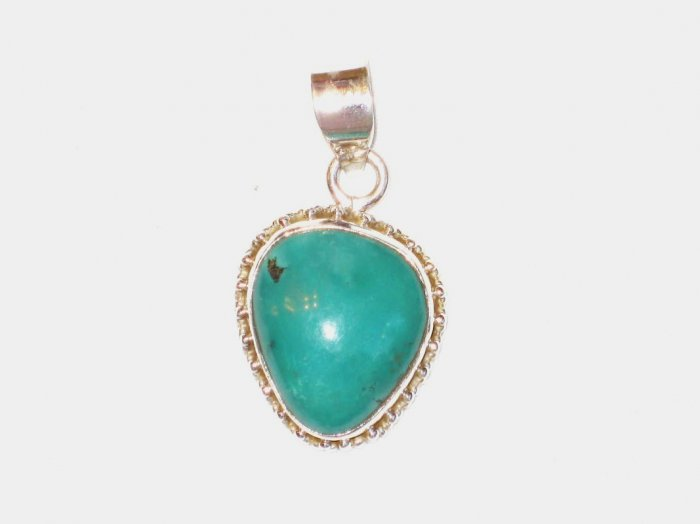 PN111  Turquoise Pendant in Sterling Silver