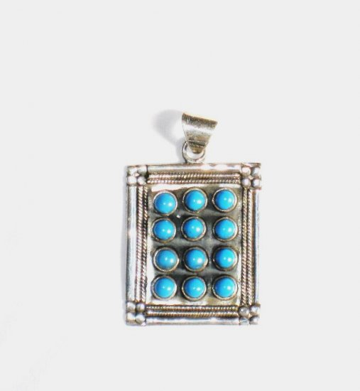 PN213  Turquoise Pendant in Sterling Silver