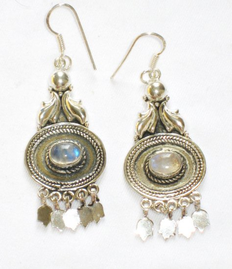 ER081       Moonstone Earrings in Sterling Silver - SOLD