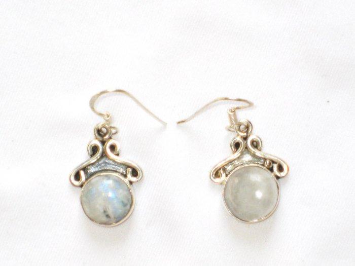 ER091       Moonstone Earrings in Sterling Silver
